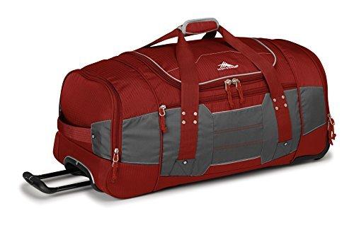 High Sierra Ultimate Access 2.0 Wheeled Duffel Bag, Brick Red/Mercury/Silver, 30-Inch [並行輸入品] B07DVNW5XL