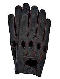 Riparo Genuine Leather Full-finger Driving Riding Touchscreen Gloves