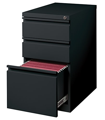 Hirsh Industries 3 Drawer Mobile File Cabinet File in Black ()