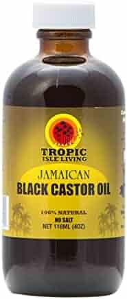 Tropic Isle Living Jamaican Black Castor Oil 4oz Glass Bottle