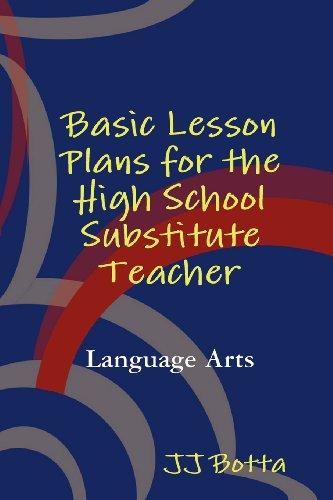 Substitute Teacher Lesson Plans - Basic Lesson Plans for the High School Substitute Teacher
