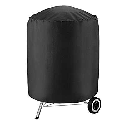 Unicook Heavy Duty Waterproof Dome Smoker Cover,Kettle Grill Cover,Barrel Cover