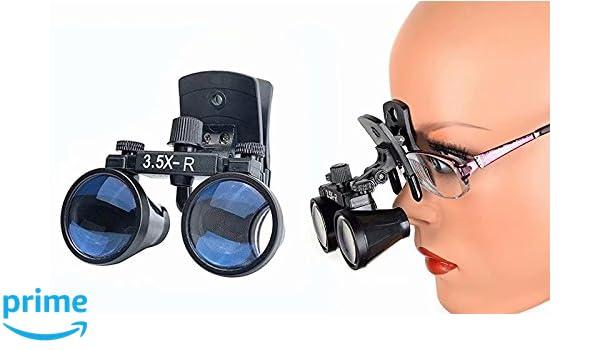 Head Light LED Light Lamp Doc.Royal New 3.5X-R Black Frame Surgical Binocular Loupes Optical Glass