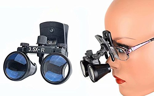 - Doc.Royal 3.5X-R Binocular Loupes Surgical Glasses Magnifier Clip on Style DY-110