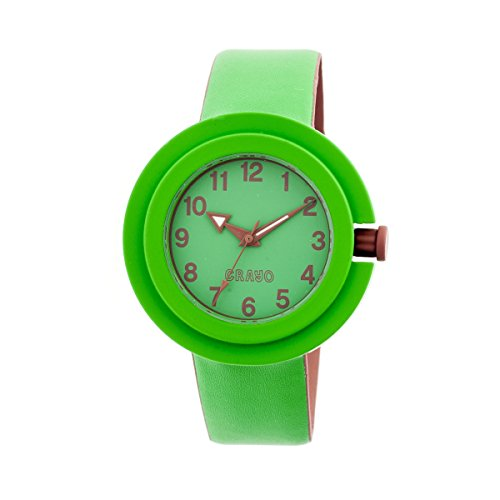 crayo-womens-equinox-green-rubber-strap-watch