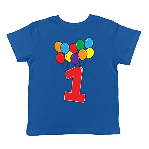 - SpiritForged Apparel 1 Year Old Birthday Balloons Infant T-Shirt, Royal 18 Months
