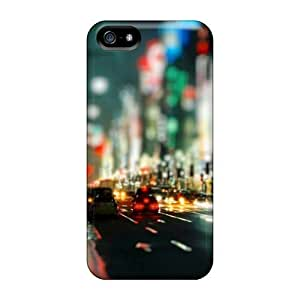 Durable Defender Case For Iphone 5/5s Tpu Cover(streets Night City Lights)