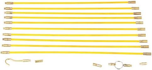 Fibra de vidrio, cable de alambre para correr, 10 × 33 cm / 13 ...