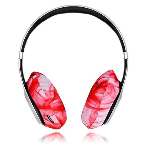 EarHugz Sweat Protecting Washable Headphone Covers – Protect All Headphones – Makeup Resistant – Gym Workout, Gamer, DJ Headphones (Regular)