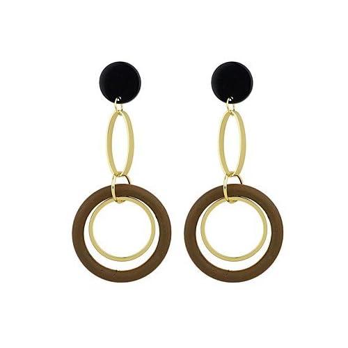 MJW&EH Femme Boucles d'oreille goutte , simple Basique Alliage Forme de Cercle Bijoux Quotidien Rendez-vous Bijoux de fantaisie , one size