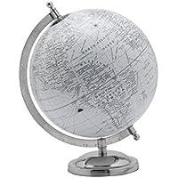Elements White Plastic Globe, 8 by 11-Inch, White/White