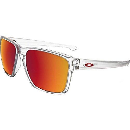 Oakley Mens Sliver XL Sunglasses, Matte Clear/Torch Iridium, One Size ()