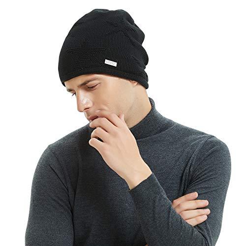 30e789d6e2b OMECHY Winter Knit Slouchy Beanie Hat Unisex Daily Warm Ski Skull Cap 4  Colors