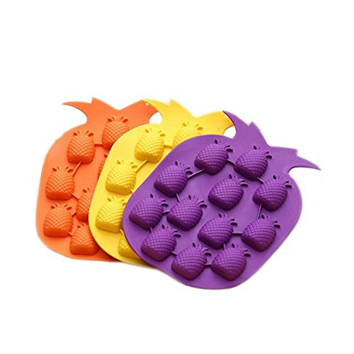 SODIAL 2PCS Island Pineapple Party Novelty Silicone Jello Ch