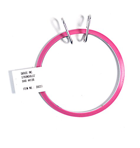 Darice Spring Tension Pink Embroidery Hoop 5 Inch - Tension Hoop