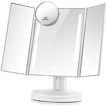 Amazon Com Terresa Led Lighted Makeup Mirror With 10x