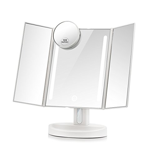 Terresa Led Lighted Makeup Mirror with 10X Magnifying Sma...