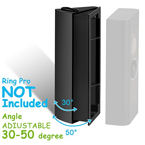 ADJUSTABLE (30 to 50 degree) Angle Mount for Ring Video Doorbell Pro (Released in 2016), Angle Adjustment Adapter / Mounting Plate / Bracket / Wedge Kit (Doorbell NOT included)