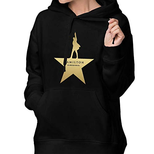Hamilton The Musical Women Hoodie Sweatshirt Long Sleeve Casual Pullover Tops with Pockets Black