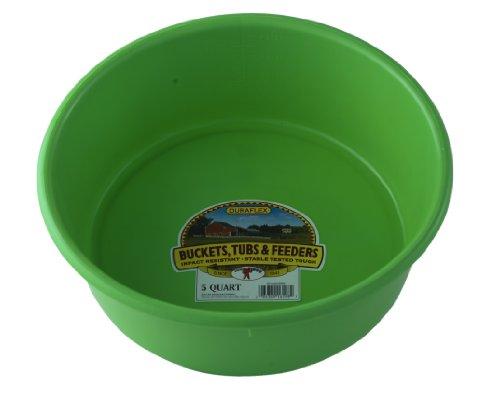 Little Giant P5LIMEGREEN Dura-Flex Plastic Utility Pan, 5-Quart, Lime Green