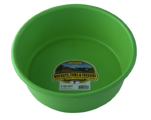 - LITTLE GIANT P5LIMEGREEN Dura-Flex Plastic Utility Pan, 5-Quart, Lime Green
