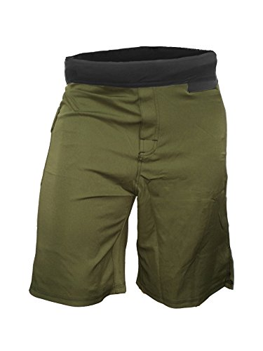 Epic MMA Gear WOD Shorts For Men Agility 4.0 - No Velcro Closure (34, Army/Black)