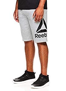 Reebok Men's Lifestyle Shorts - Running Gym & Workout Short w/Elastic Drawstring Waistband - Char HTR Low Lift, Medium