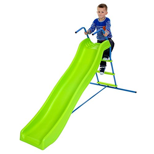 Childrens Outdoor Playground Toy 5.8 ft Wavy Kids Slide
