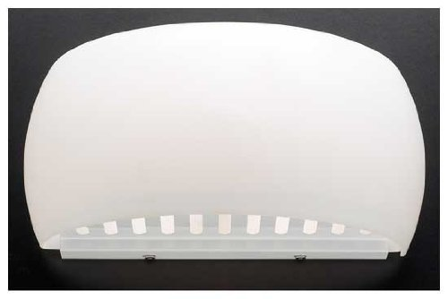 PLC Lighting 1038 OPAL 1-Light Wall Fixture Sprout Collection with Matte Opal Glass and White - Collection Little Sprout
