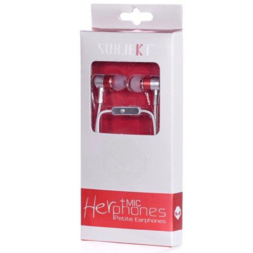Subjekt HerPhones Petite Earbuds with Mic for Women