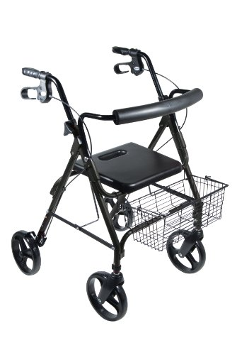 Drive Medical D-Lite Rollator, Black