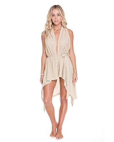 Luli Fama Women's Cosita Buena Beach Wrap Vest Coverup, Gold Rush, One Size
