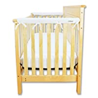 Trend Lab Fleece CribWrap Rail Covers for Crib Sides (Set of 2), White, Narro...