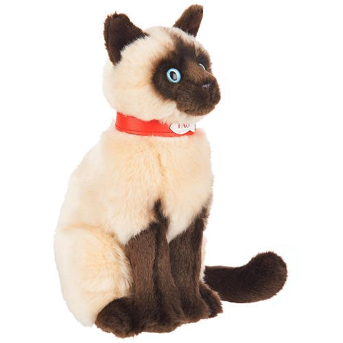 FAO Schwarz Siamese Plush Cat - Sitting Kitty Cat