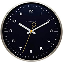 Marksson The Crosby Stainless Steel Wall Clock Silent Non-Ticking Wall Clock, 12 Quartz, Premium Materials, High End Mechanism 》Ideal for The Bedroom, Living Room, Kitchen and Office