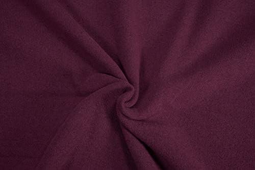 Mollipolli Bene - Tela de Punto (algodón Burdeos, 0,5 m): Amazon ...