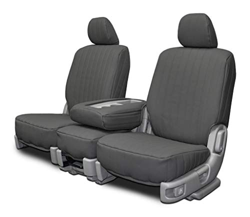 Custom Fit Seat Covers for Cadillac DeVille Sedan Front 60-40 Split Bench - Charcoal Vinyl Fabric