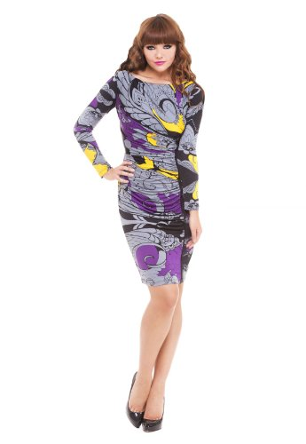 Analili Women's Camila Abstract Print Asymmetrical