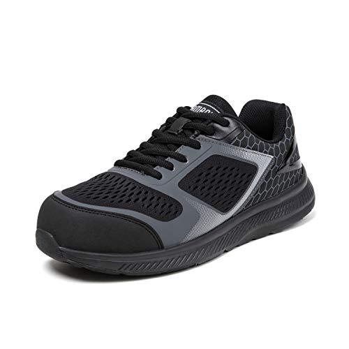 PAMRAY Safety Shoes Men Steel Toe Cap Trainers Breathable Work Sneakers Lightweight Industrial Footwear