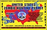 Custom Printed Zombie Outbreak Zombie Hunting Permit