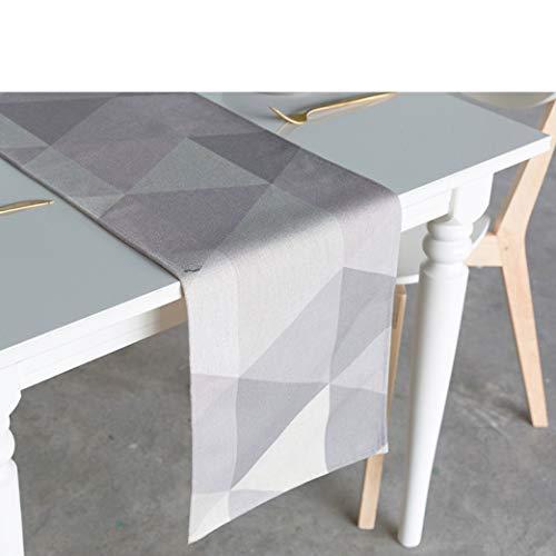 Nordic Simplicity Cotton Table Runner for Christmas Wedding Party Decor Cartoon Plain Lattice Style