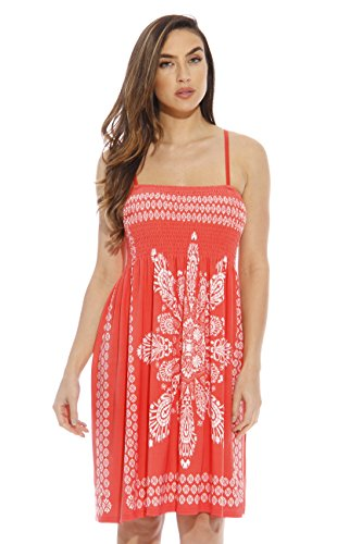 1870-Coral-XL Just Love Summer Dresses for Women