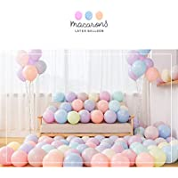 """Party Pastel Balloons 100 Pcs 10"""" Macaron Candy Colored Latex Balloons for Birthday Wedding Engagement Anniversary Christmas Festival Picnic or Any Friends & Family Party Decorations- Multicolor"""