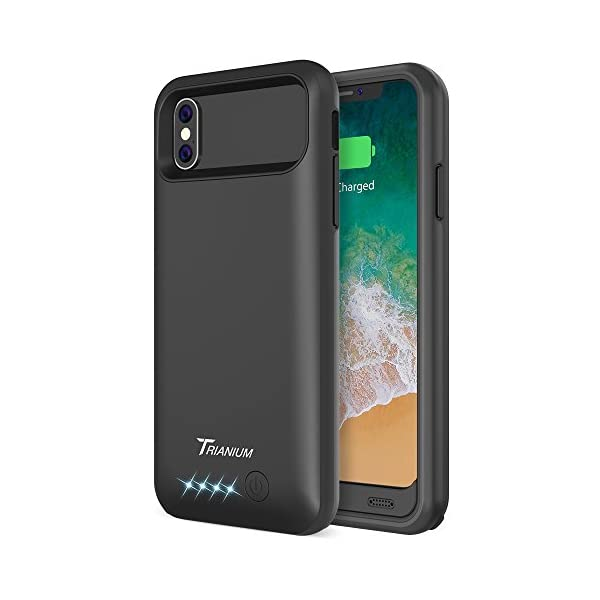 sports shoes b044b e3313 iPhone X Battery Case, Trianium Atomic Pro iPhone X Case / iPhone 10 (2017)  Portable Charger Charging Case 4000mAh Extended Battery Pack Power Juice ...