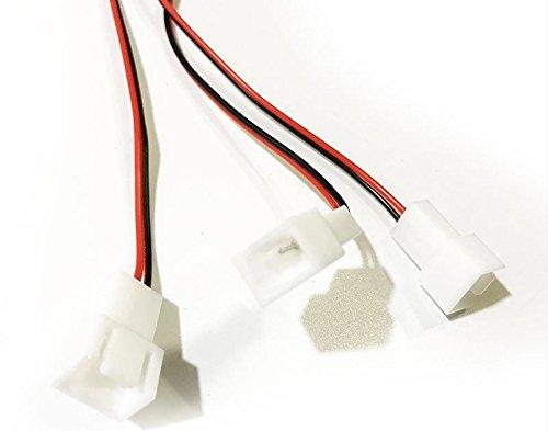 JXSZ 3 Channels 3-pin PC Cooler Cooling Fan Speed