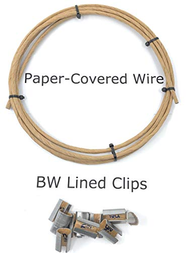 HotSign Springs Paper Covered Wire 16 Gauge 8' Length for Upholstery Plus Bonus BW Clips