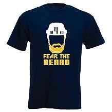 """The Silo NAVY Ellis Nashville """"BEARD"""" T-Shirt"""
