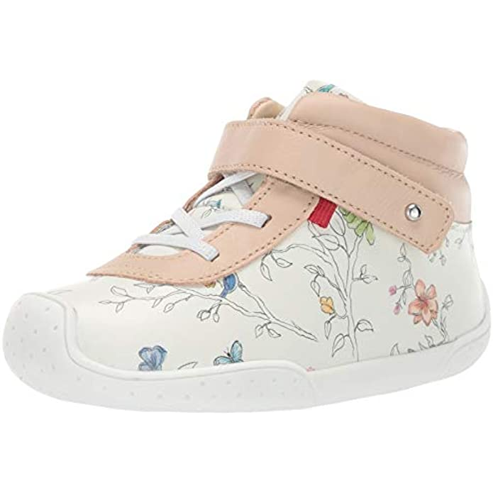 MARC JOSEPH NEW YORK Kids' Toddlers Baby Boys/Girls Leather Made in Brazil Floral Sneaker Loafer