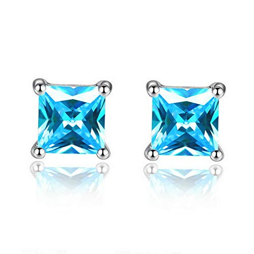 Asscher Square Ring - Campton Fashion Rhinestone Crystal Square Woman Ear Stud Earrings Wedding Jewelry Gift | Model ERRNGS - 87 |