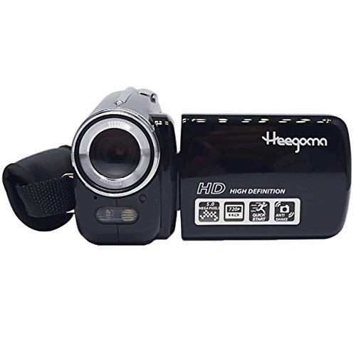 Digital Video Camcorder, Heegomn FHD 720P 1280×720 Video Camera 2.0″ LCD 5MP Digital Video Recorder 270 Degree Rotation Screen, Black